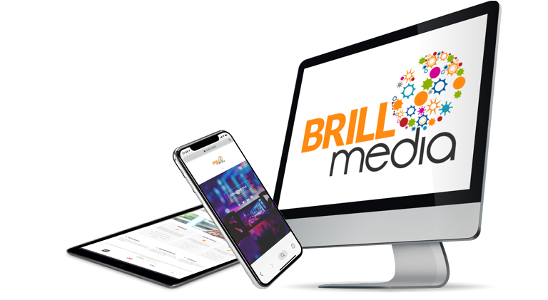 Brill Media laptop and phone